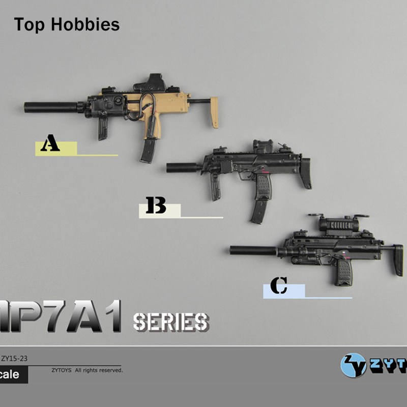ZY15-23 1/6 Scale MP7A1 A/B/C 3 Styles Gun Weapon Model Toy Fit 12 Soldier Action Figure Dolls Accessories Collections 1 6 scale rifle gun model for 12 inches action figure accessories collections x80028 m700pss x80026 psg1