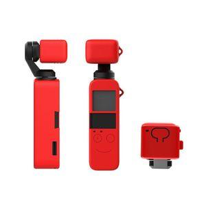 Image 2 - 1 ชุดซิลิโคนป้องกันกรณีเลนส์ผิวสำหรับ DJI OSMO กระเป๋า Gimbal กล้องชุดอุปกรณ์เสริม