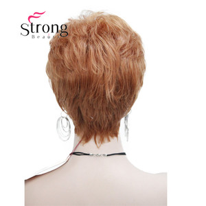 Image 4 - StrongBeauty Very Short Orange Brown Blonde High Heat Resistant Full Synthetic Wig COLOUR CHOICES