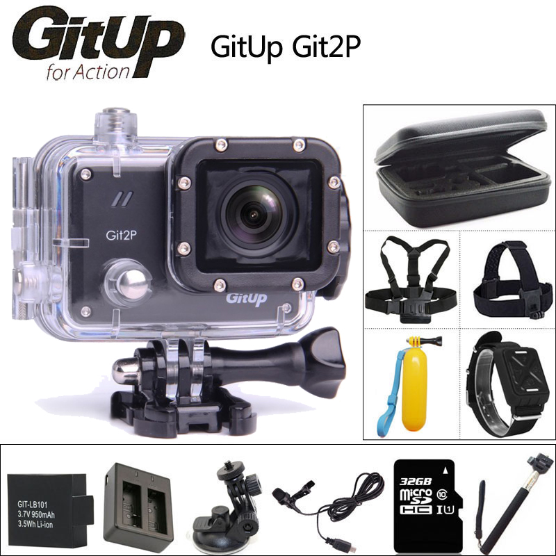 Оригинал GitUP Git2 P экшн камера 2 К Wifi Спорт DV PRO Full HD 1080 P 30 м Водонепроницаемый мини Видеокамеры 1.5 дюймов Новатэк 96660 Cam экшен камера