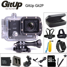 Original GitUP Git2 P Sports Action Camera 2K Wifi Full HD 1080P 30M Waterproof Camcorder 1.5 inch Novatek 96660 Git2P PRO Cam
