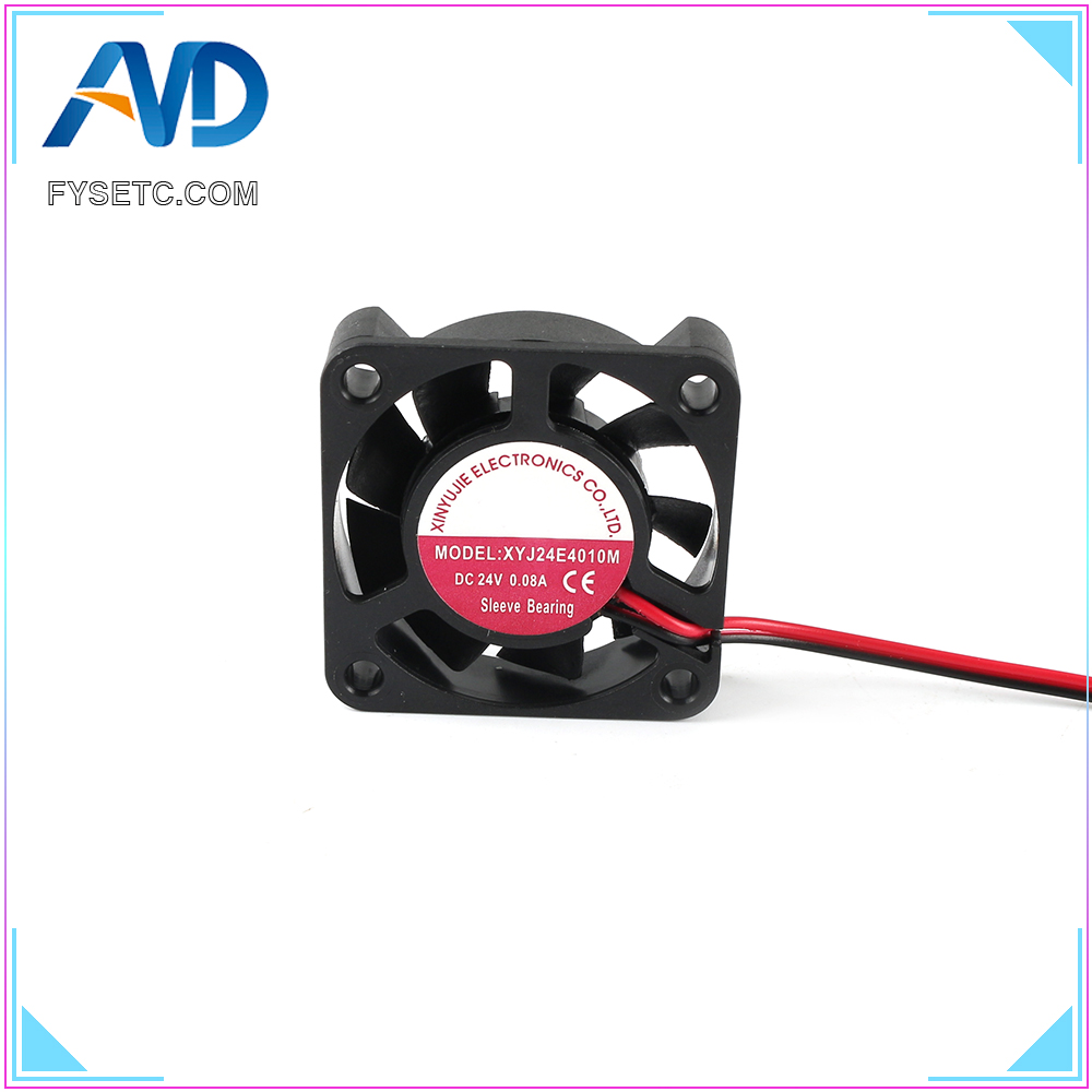 DC 24V 4010 Cooling Fan 40x40x10mm 0.08A Hydraulic Bearing Fan Cooler Radiator Super Silent For Creality Ender-3 3D Printer Part