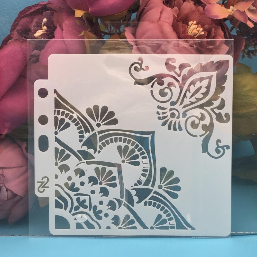 13cm Flower Edge DIY Layering Stencils Wall Painting Scrapbook Coloring Embossing Album Decorative Paper Card Template
