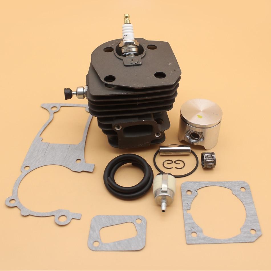 44mm Cylinder Piston Decompression Valve Gasket Set For HUSQVARNA 350 351 353 346 346XP Gas Chainsaw Engine Motor Rebuild Kit