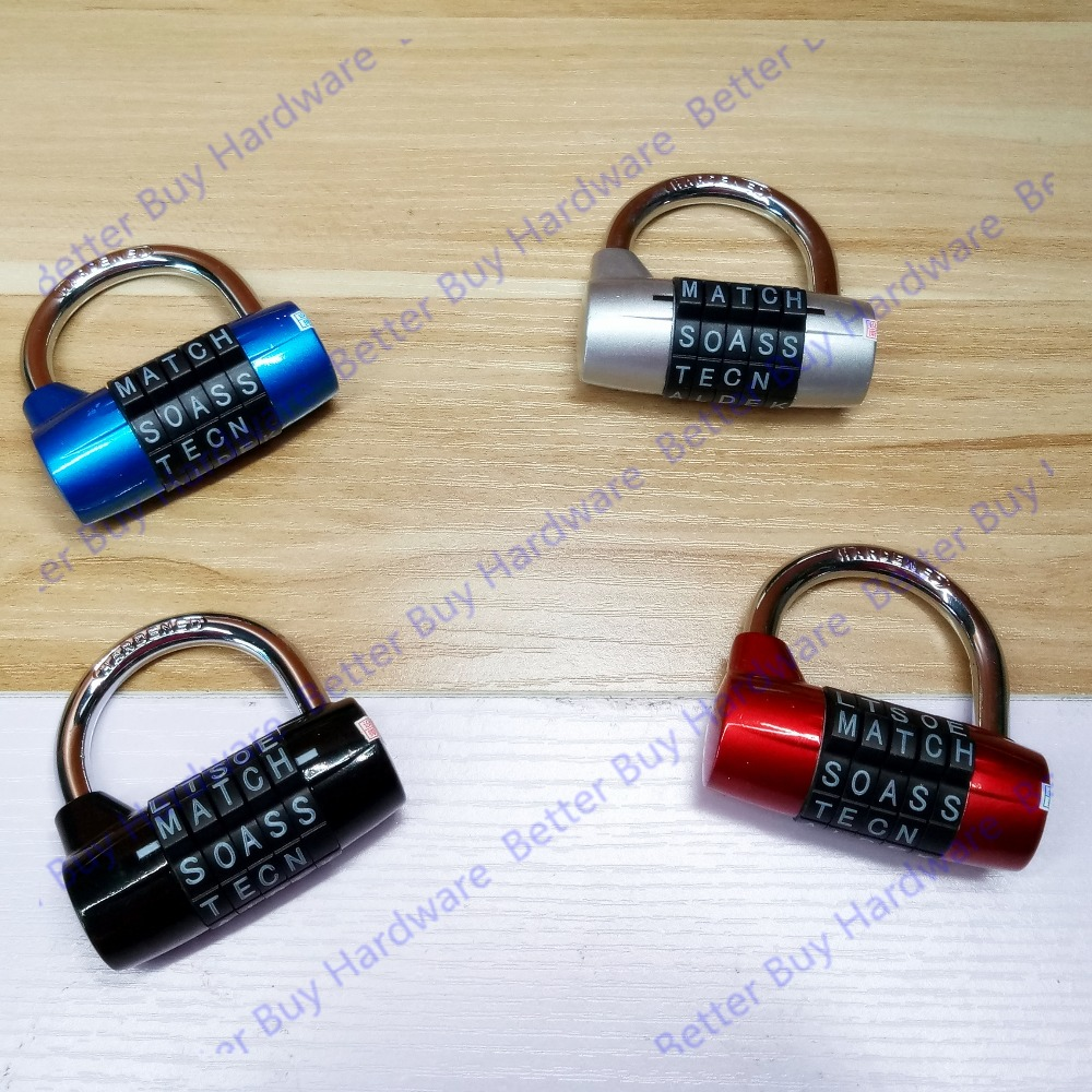 Dark Blue Color Mini 5 Letter Combination Password Code Padlock Door Lock Travel Luggage Cases Boxes Mailboxes Lock Suitcase active contrast color letter pattern jackets in dark blue