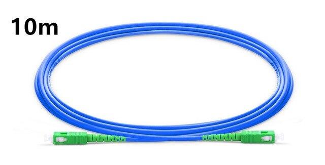 10m SC APC to SC APC Simplex Single Mode Armored PVC (OFNR) Patch Cable, Cable Jumper