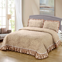 High Grade Bedding Comfortable Quilting Summer Quilt Cotton Bedspread Pillowcase 3pcs Blankets 230x245cm/245/265cm Bed Covers#sw
