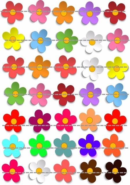 Papier De Riz Décoration 35 fleur comestibles gâteau topper plaquette riz papier de mariage