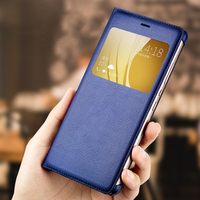 Leather Smart Case For Huawei Honor V8 FEILIDA Big View Window Flip Cover For Honor V8 Hard Back Cover Anti-Knock 5.7 inch