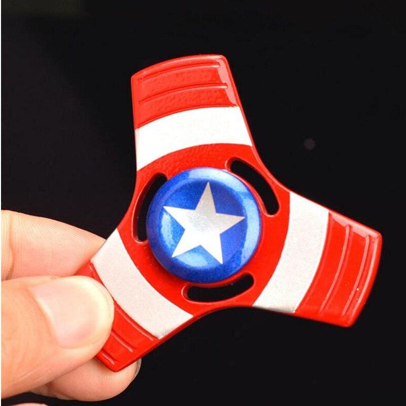 The Avengers America Captain the Hulk Fidget Spinner Metal Hand Spinner Alloy Finger Spinner Tri Spiner