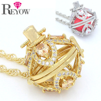 Wholesale LOTS 5PCS Aromatherapy Jewelry Zircon Crystal Flower Hollow Locket Pendant Essential Oil Diffuser 24 Chain