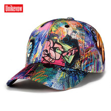 UNIKEVOW Unisex 3D Graffiti Digital Printing Baseball Cap Snapback Outdoor Casual Caps Women Gorra