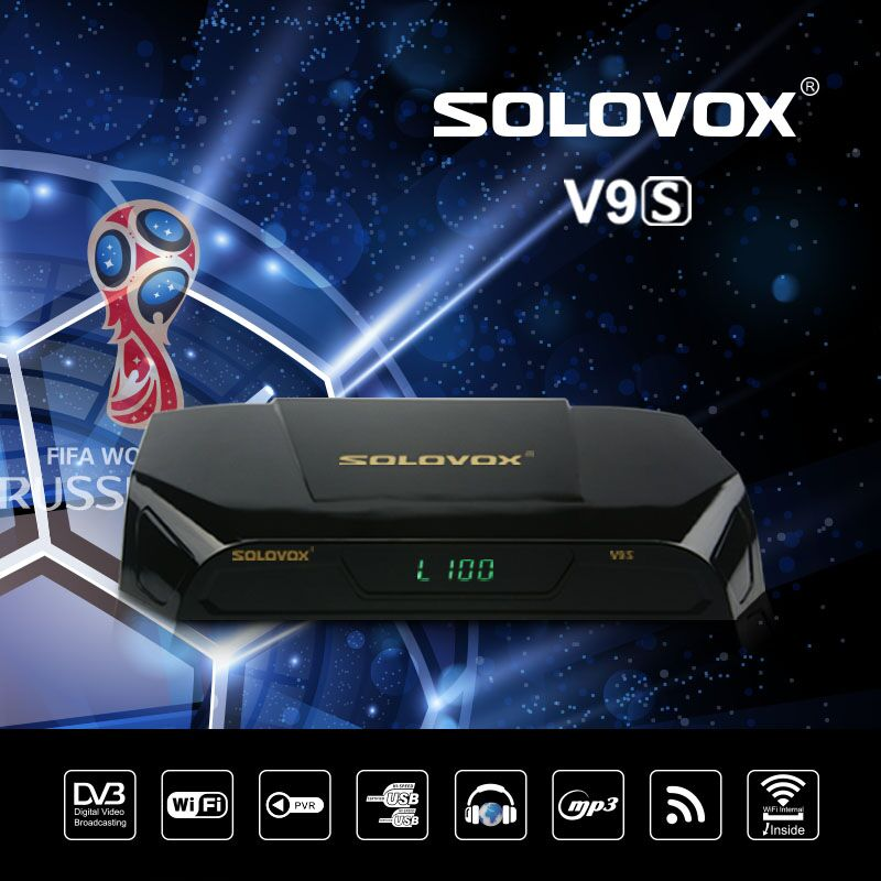 HOT SOLOVOX V9S DVB-S2 HD Satellite Receiver USB Port WEB TV USB Wifi Build in Support IPHD Xtream Stalker IPTV youtube youporn