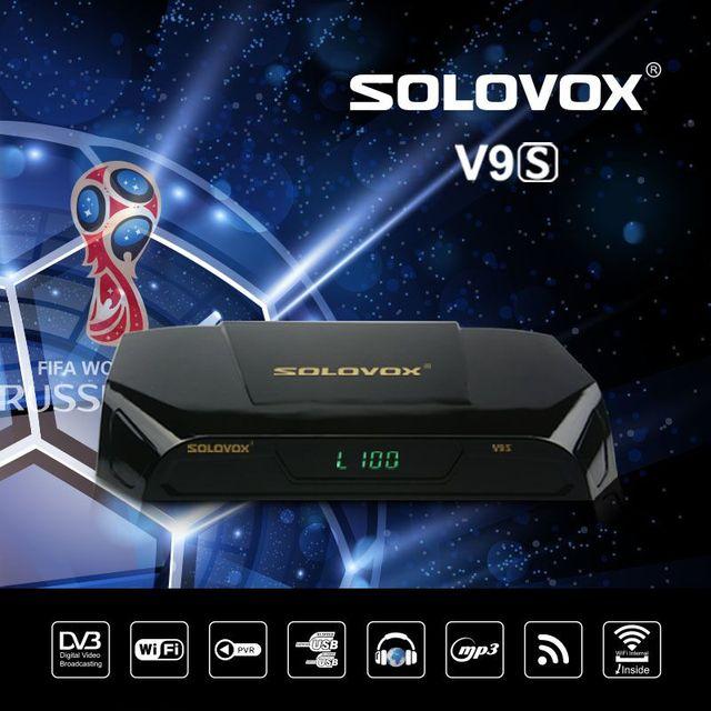 HOT SOLOVOX V9S DVB-S2 HD Satellite Receiver USB Port WEB TV USB Wifi Build in Support IPHD Xtream Stalker IPTV youtube youporn