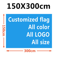 FLYING Polyseter 150X300CM 1.5X3M printed Decoration customized flag all color all LOGO all size