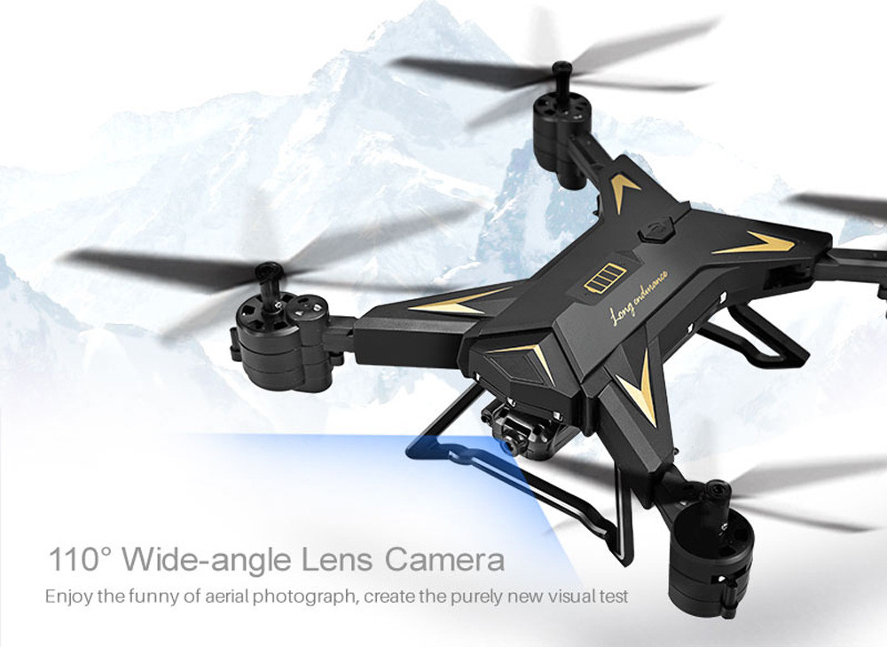 601S 1080P 5MP Quadcopter With Camera Foldable WIFI FPV Drone 20Min Flying 6-axis 4CH RC Helicopter Selfie Drones With Camera HD 20