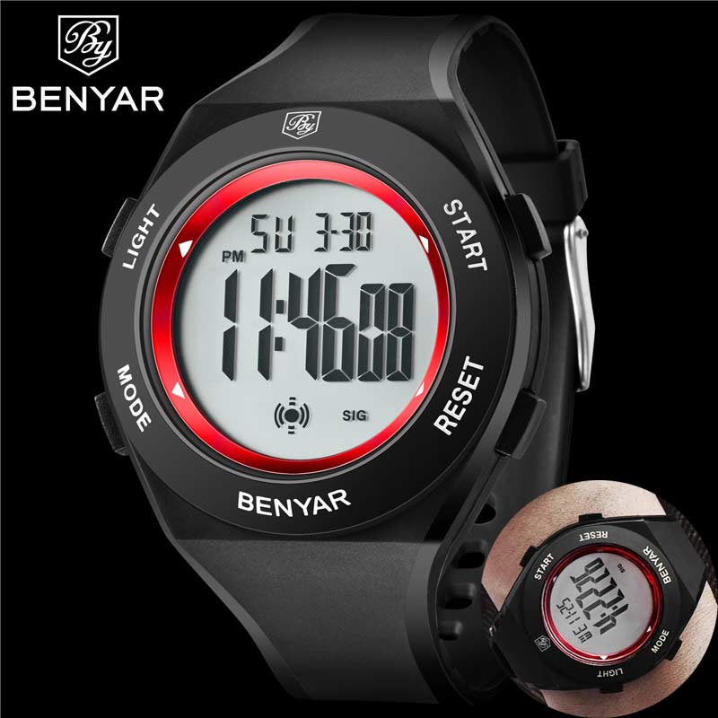 Relogio Masculino BENYAR Men Watch Top Brand Luxury Sport Chronograph Alarm Digital LED Male Clock Military Man Wristwatch 8003