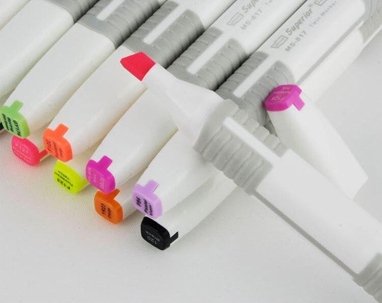 Качественный маркер ручка на спиртовой основе Перманентный маркер 48 цветов костюм с бесплатной сумкой