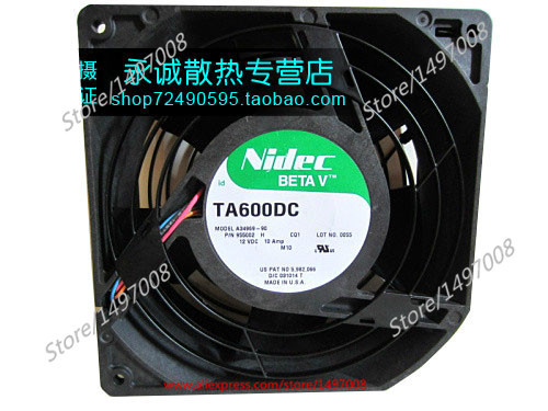 Nidec A34969-90  DC 12V 10A 6-wire 6-pin connecto , 150x150x55mm Server Square fan free shipping for nidec m35556 35del12f dc 12v 1 0a 4 wire 4 pin connector 90mm 92x92x38mm server square fan