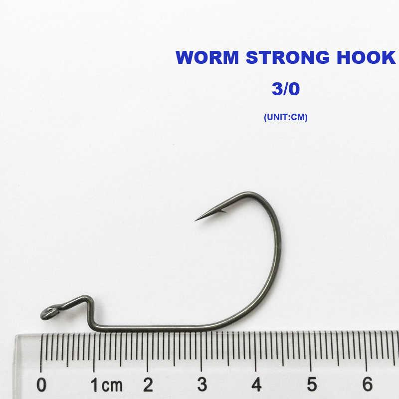 جديد وصول 100 قطع 7316 3/0 الصيد هوك دودة هوك الساعد هوك الصيد معالجة مع شحن مجاني!
