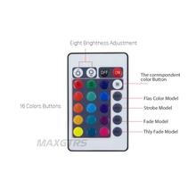 2x Multi-Color Angel Eyes 5050 RGB Halo Rings LED Bulb, Flash Car Headlight Fog DRL
