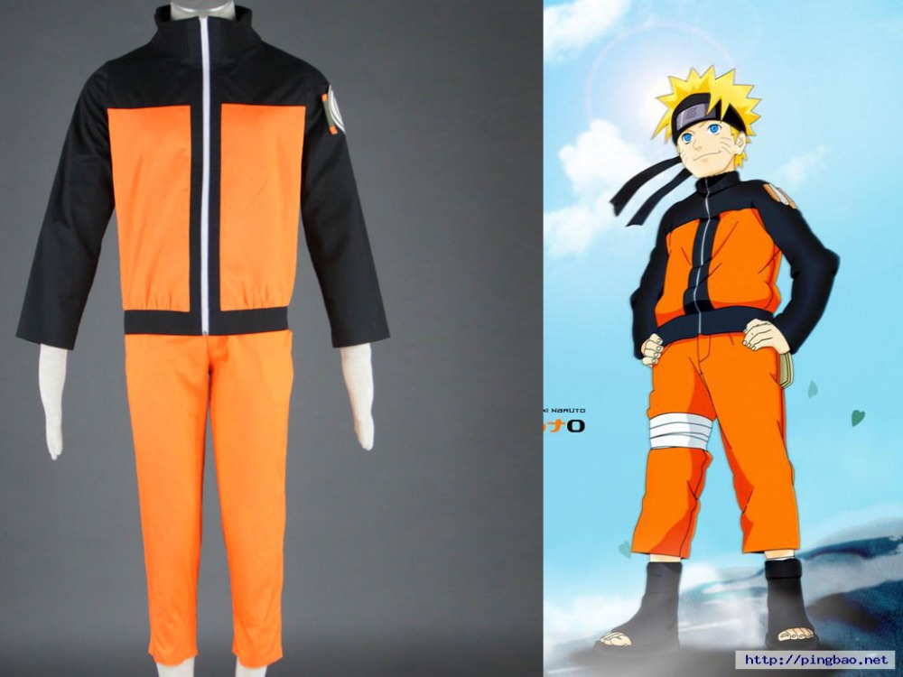 Hot Naruto Uzumaki Hokage 2nd Halloween Cosplay Uniform Cosplay Costume Full Set