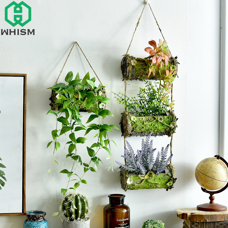 Whism Wooden Storage Baskets 1 2 Layers Wood Wall Decor