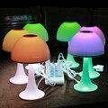 Carregamento de leitura LED mushroom desk lamp eye escudo toque dimmer led colorido luz da noite Do Bebê Crianças Quarto Cabeceira CONDUZIU a Lâmpada