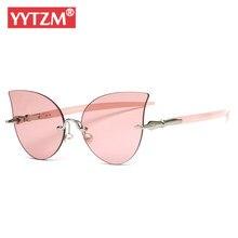 d080281db YYTZM Rimless Sunglasses Women Butterfly Pencli Leg Transparent Lens  Vintage Chic Luxury Sun Glasses Men Lunette De Soleil Femme