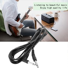 1pc 10ft 3m Electric Patch Guitar Amplifier AMP Instrument Cable Cord 6.35mm 1/4 Hot Sale