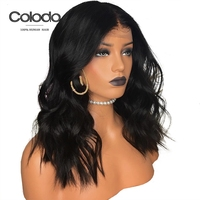 COLODO Glueless 180%density Loose Wave Full Lace Wigs Human Hair with Babyhair Peruvian Remy Pre Plucked Natural Wig For Women