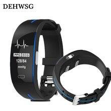 ECG + PPG DEHWSG relógio Inteligente D3 Real-tempo de Monitoramento da freqüência cardíaca Pressão Arterial IP67 waterpoof Inteligente Pulseira Para Xiaomi pk fitbits