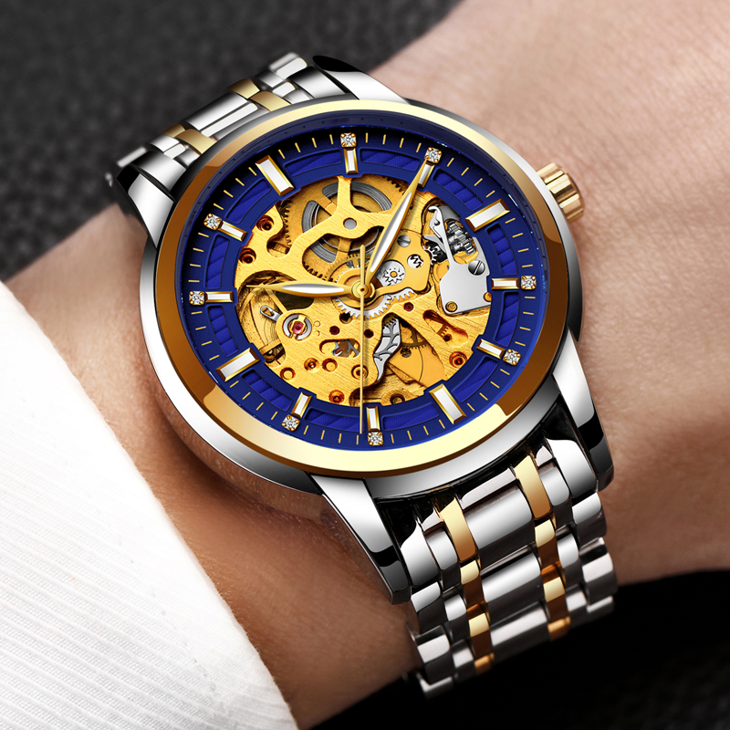 Relogio Masculino LIGE Mens Watches Top Brand Luxury Automatic Mechanical Watch Men Full Steel Business Waterproof Sport Watches lige brand men s fashion automatic mechanical watches men full steel waterproof sport watch black clock relogio masculino 2017