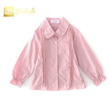 The new girl long sleeved shirt Lapel all-match casual fashion style special offer on sale