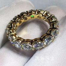 Женское кольцо на палец круглая обручальная лента 4 мм из циркония