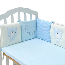 6Pcs/Lot Baby Bed Bumper in the Crib Cot Bumper Baby Bed Protector Crib Bumper Pads Cotton Blend Baby Bedding Safety Rail(China)