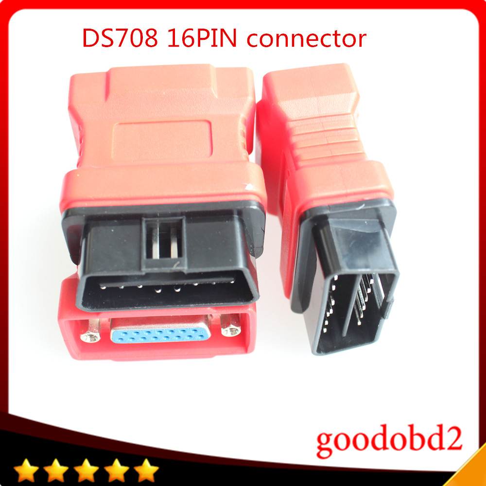 For Autel Maxidas DS708 OBDII Connector DS708 OBD 16PIN 16 Pin connector car diagnostic tool OBD-II OBDII Obd2 Adapter