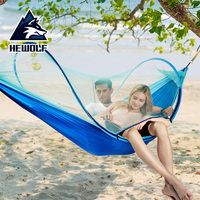 Outdoor Mosquito Net Parachute Hammock Camping Hanging Sleeping Bed Swing Sleeping Bag Portable Double Person Hammock 260x150cm