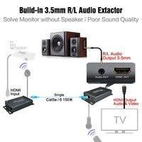 Hdmi передатчик и приемник TX/RX с ИК Управление Over IP HDMI Extender ИК с 3.5 мм Джек над cat5e/6 RJ45 кабель ethernet
