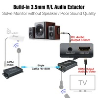 HDMI Transmitter And Receiver TX RX With IR Control Over IP HDMI Extender IR With 3