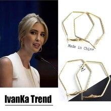 Capable temperament earrings Met Gala Ivanka Trump Speech hoop earrings Sexy Red Carpet Celebrity Prom Dress geometry earrings