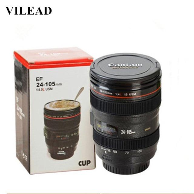 VILEAD Novelty Plastic Lens Coffee Mug Water Cup With Lid Plastic Ice Cream Cup Morning Tea Cup Milk Mug Office Water Bottle