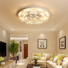 Crystal Lamp Modern Remote Control Led Ceiling Light Fixtures Living Room Bedroom Decor Home Lighting White Acrylic Metal lustre цена в Москве и Питере