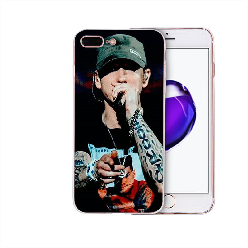 Rapper Eminem rap soft covers 5s se 5 for iphone 6 6s 7 8 plus x xr xs max mobile phone case silicone shell Coque TPU housing in Half wrapped Cases from Cellphones Telecommunications