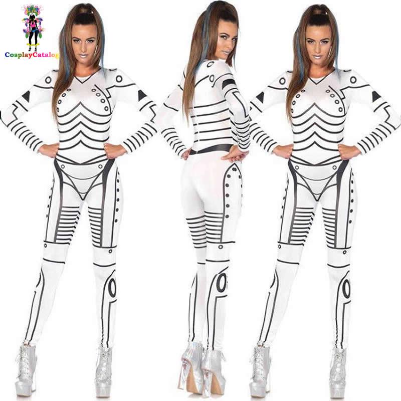Deluxe Star Wars Mörder Roboter Print Halloween Kostüm Party Sexy ...