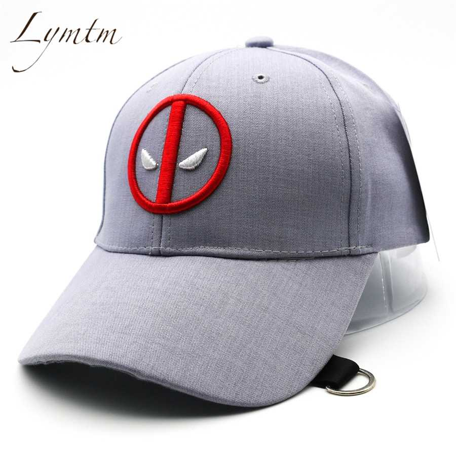 sports shoes cd943 17927 ...  Lymtm  2018 Summer Deadpool Embroidery Baseball Caps Funny Marvel Hat  Adjustable Snapback Casquette Hockey ...