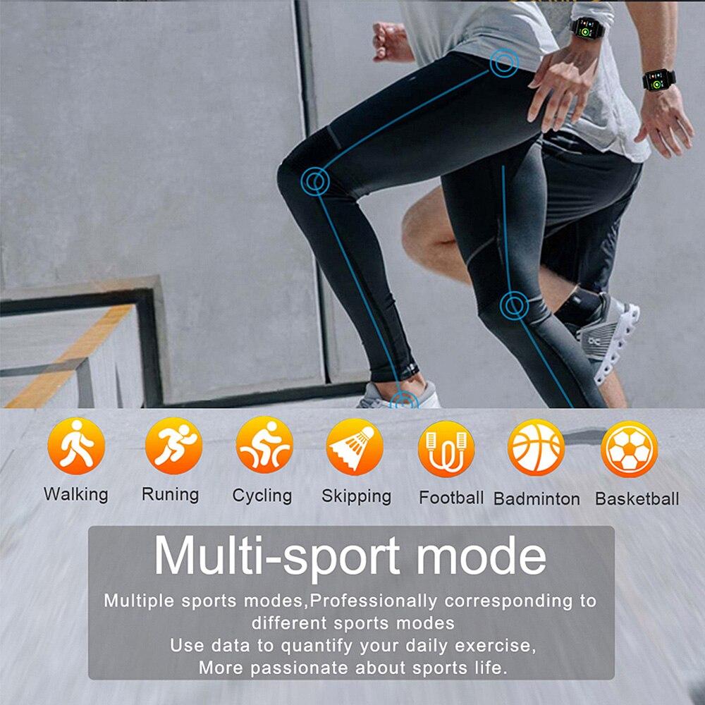 COLMI Land 1 montre intelligente à écran tactile complet IP68 étanche Bluetooth Sport fitness tracker hommes Smartwatch pour téléphone Android IOS - 4