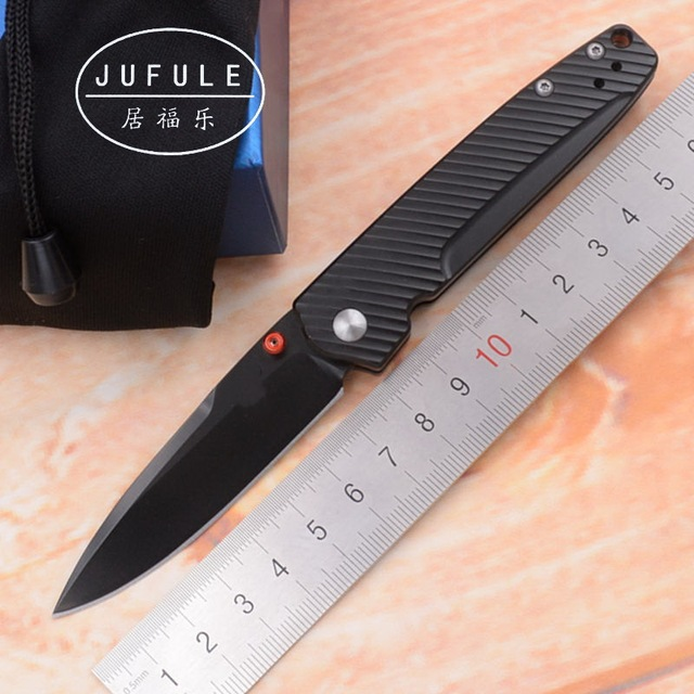 JUFULE OEM Limited Edition 485 mark M390 Blade Titanium handle folding Pocket Survival EDC Tool camp hunt Tactical kitchen knife