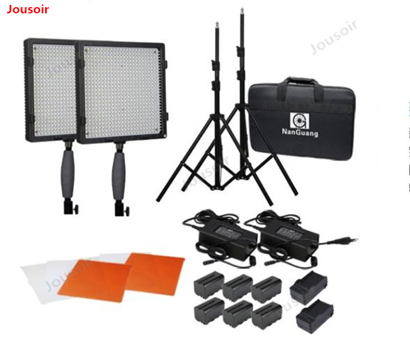 LED photography light set outside shot fill light film and television video light 576 two light set +F750 battery CD50 T03 Photo Studio Accessories     - title=
