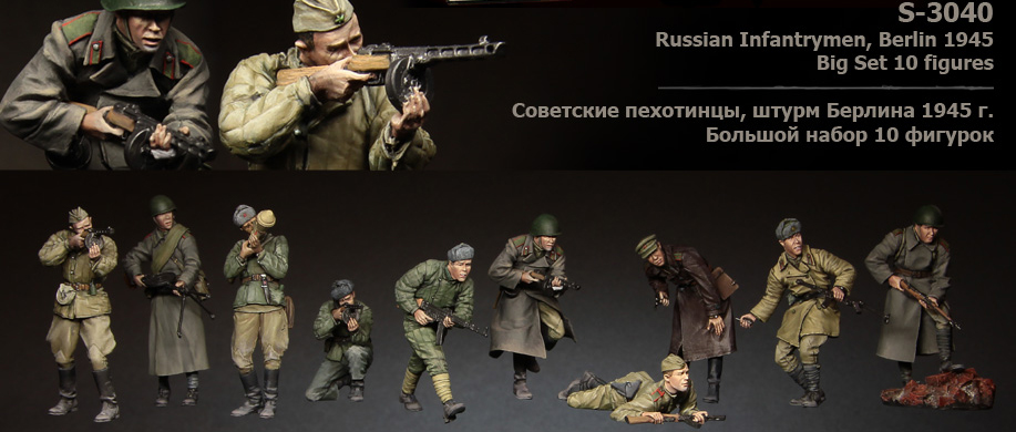 1:35 scale resin model kit resin figure model Soviet soldier big set 10 figures A3040 цены